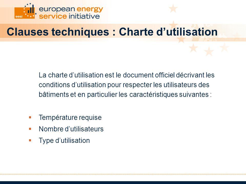 Clauses techniques : Charte dutilisation La charte dutilisation est le document officiel décrivant les conditions dutilisation pour respecter les util