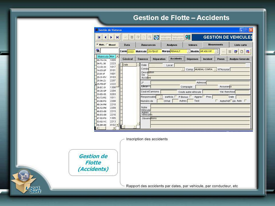 Gestion de Flotte – Accidents