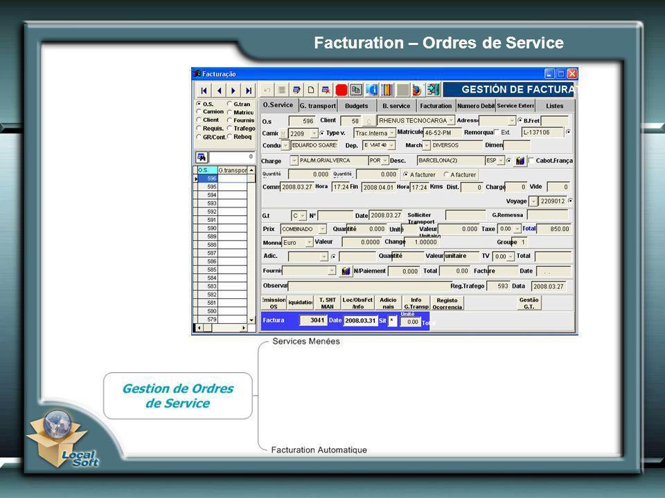 Facturation – Ordres de Service