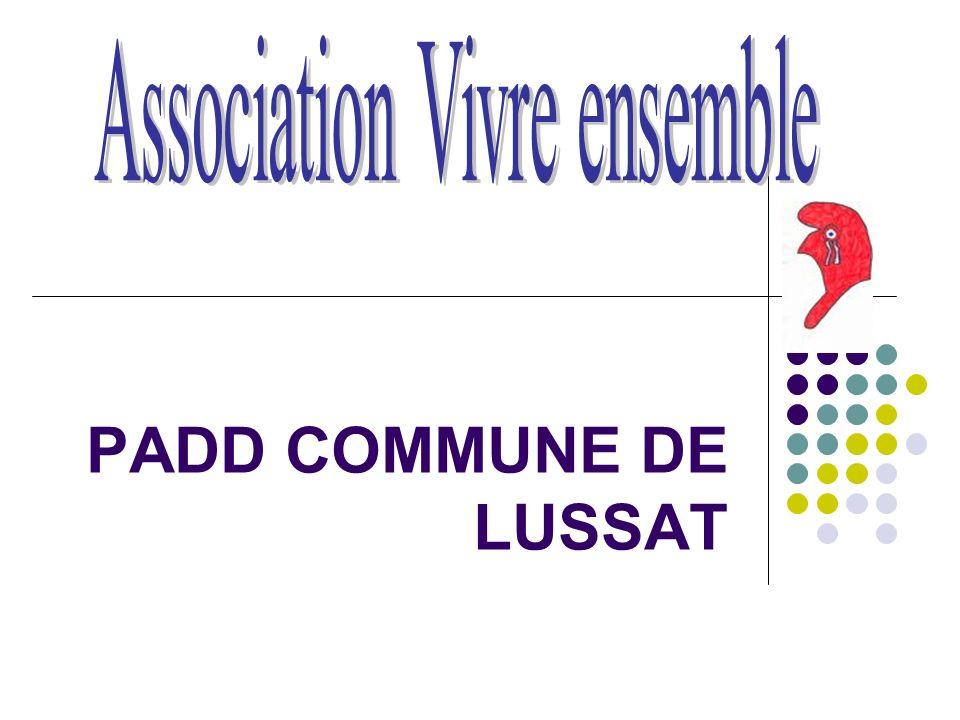PADD COMMUNE DE LUSSAT