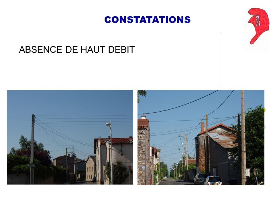 CONSTATATIONS ABSENCE DE HAUT DEBIT