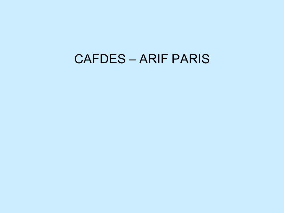 CAFDES – ARIF PARIS