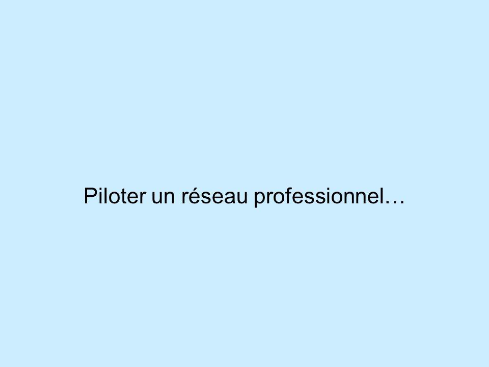 Piloter un réseau professionnel…