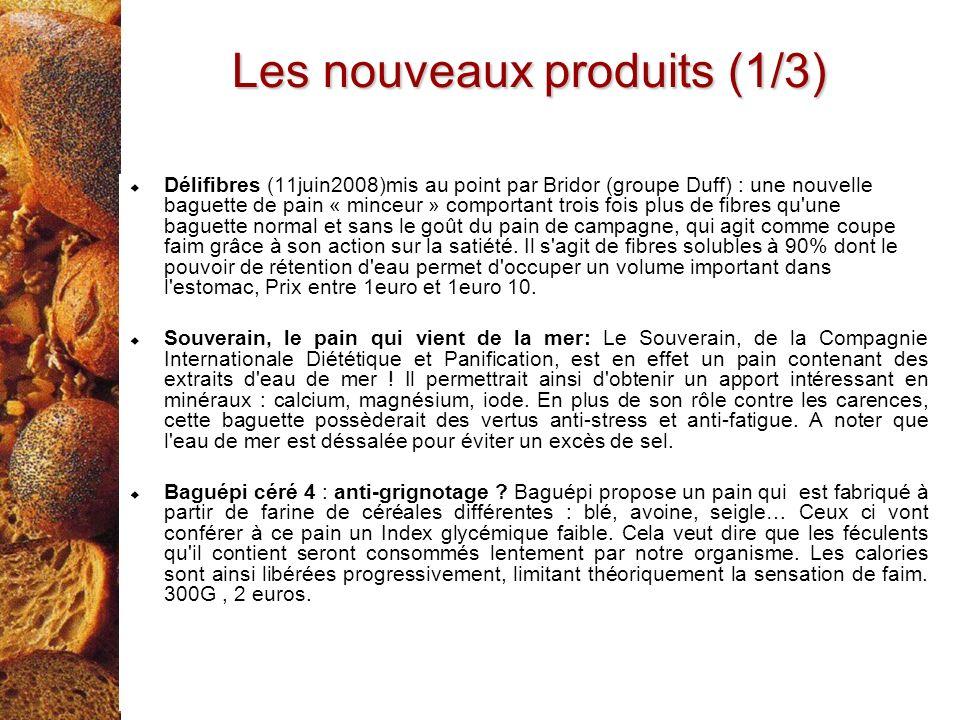 Délifibres (11juin2008)mis au point par Bridor (groupe Duff) : une nouvelle baguette de pain « minceur » comportant trois fois plus de fibres qu'une b