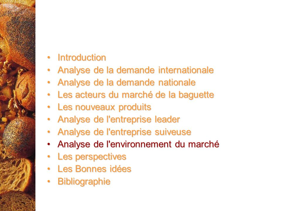 IntroductionIntroduction Analyse de la demande internationaleAnalyse de la demande internationale Analyse de la demande nationaleAnalyse de la demande