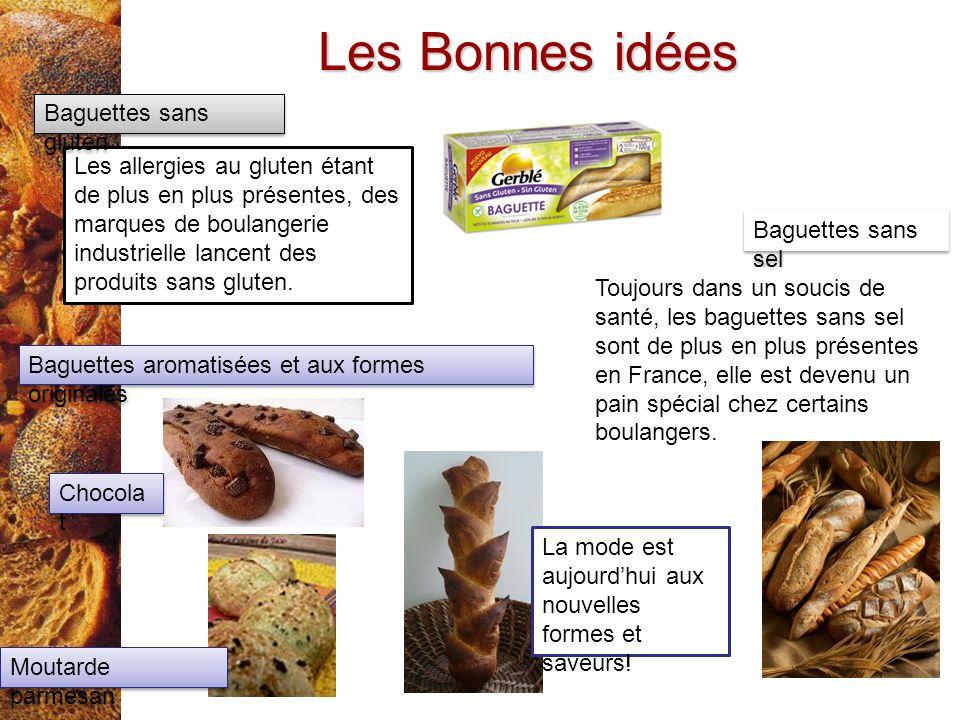Les Bonnes idées Les allergies au gluten étant de plus en plus présentes, des marques de boulangerie industrielle lancent des produits sans gluten. Ba