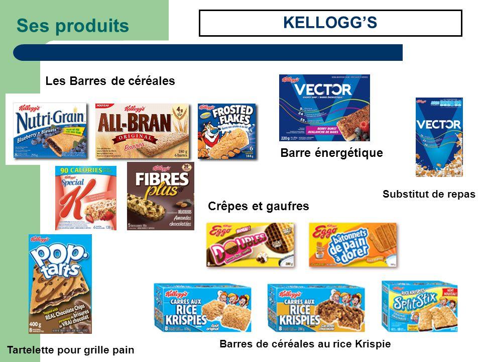 Ses produits KELLOGGS Les Barres de céréales Barre énergétique Substitut de repas Tartelette pour grille pain Barres de céréales au rice Krispie Crêpe