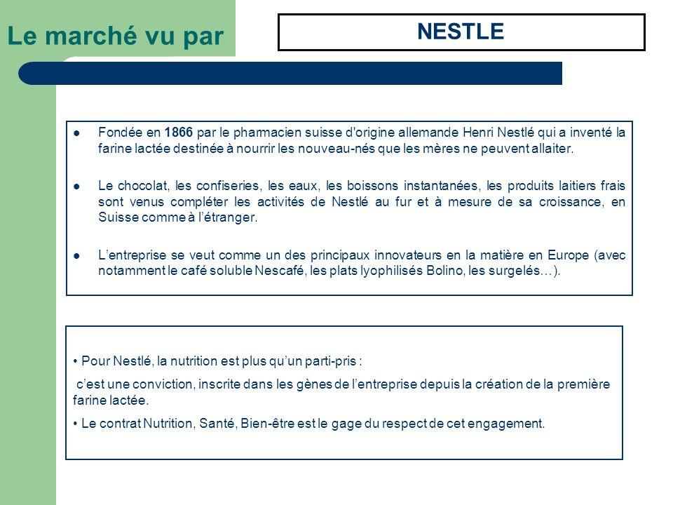 Fondée en 1866 par le pharmacien suisse d'origine allemande Henri Nestlé qui a inventé la farine lactée destinée à nourrir les nouveau-nés que les mèr