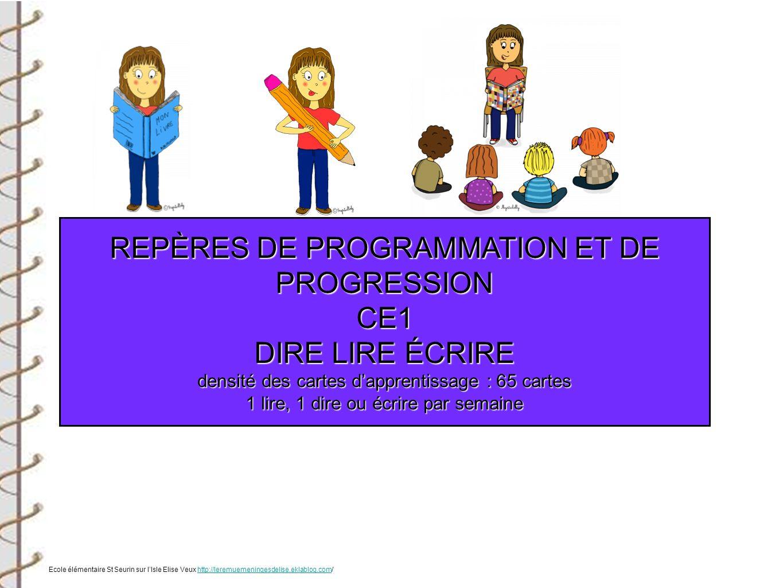 REPÈRES DE PROGRAMMATION ET DE PROGRESSION CE1ARTS Ecole élémentaire St Seurin sur lIsle Elise Veux http://leremuemeningesdelise.eklablog.com/http://leremuemeningesdelise.eklablog.com