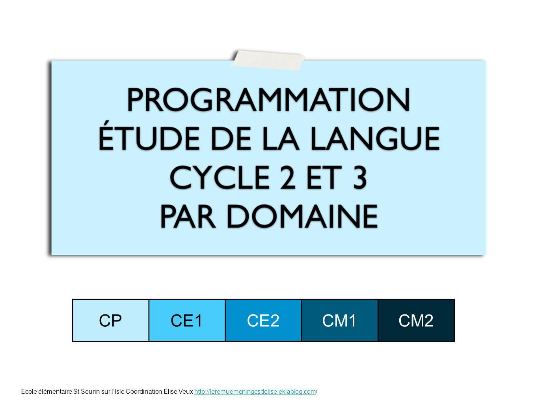 CPCE1CE2CM1CM2 Ecole élémentaire St Seurin sur lIsle Coordination Elise Veux http://leremuemeningesdelise.eklablog.com/http://leremuemeningesdelise.ek