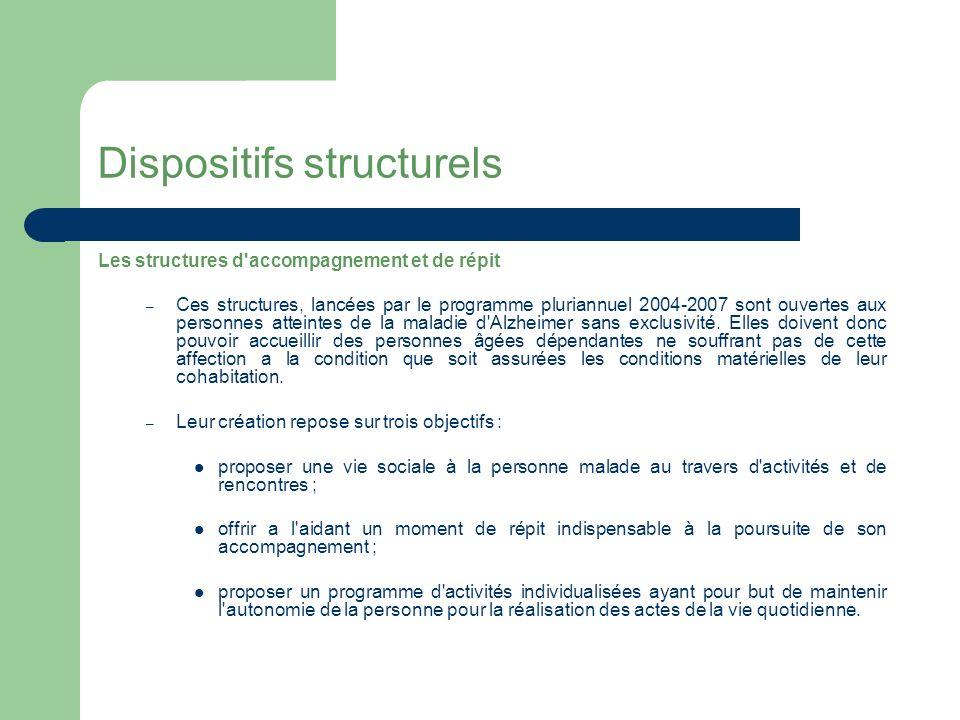 Dispositifs structurels Les services d aide et d accompagnement à domicile sont agréés au titre de l article L.