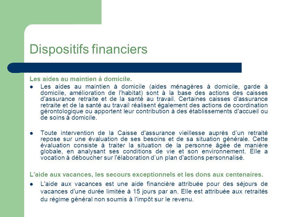 Dispositifs financiers L allocation représentative de services ménagers.