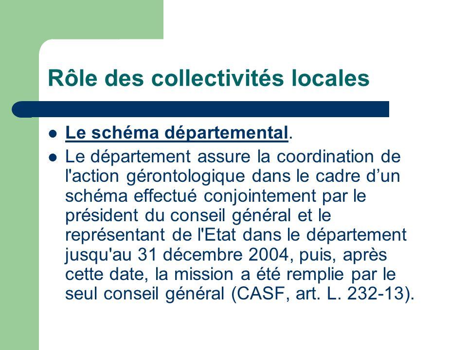 Rôle des collectivités locales La mission du département est de définir des secteurs géographiques d intervention, de déterminer les modalités d information du public et également de mettre en œuvre ces compétences en s appuyant notamment sur les centres locaux d information et de coordination (Clic).