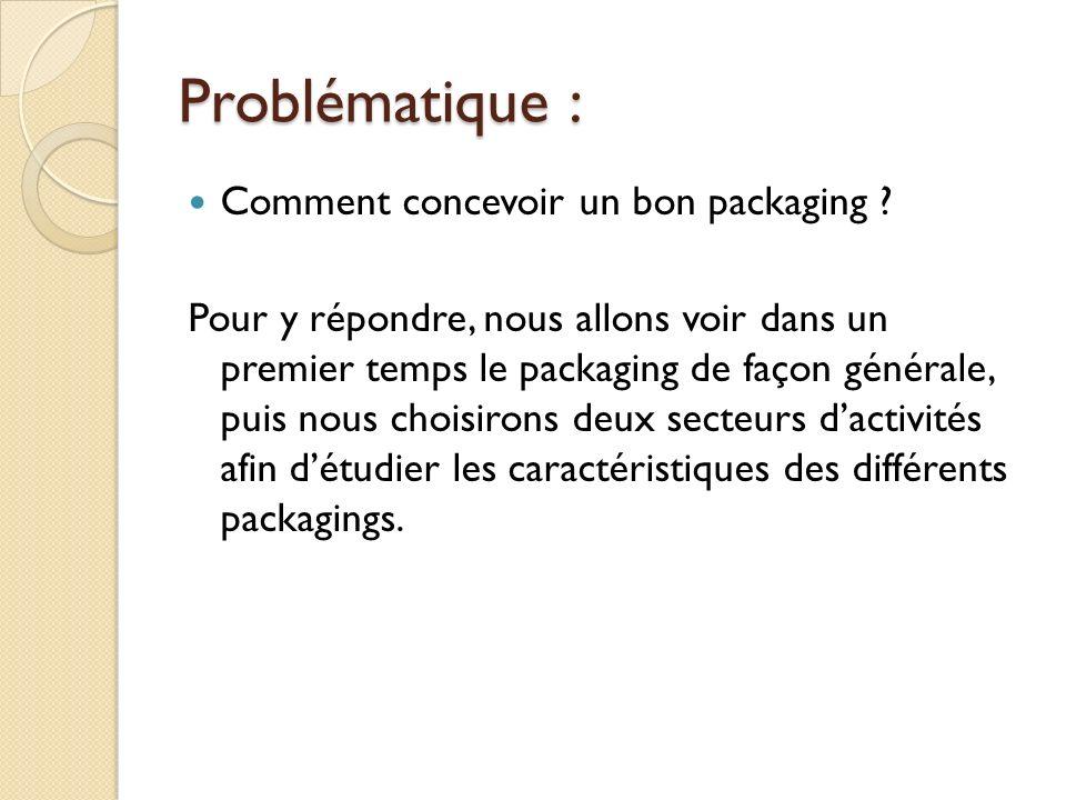 Problématique : Comment concevoir un bon packaging .