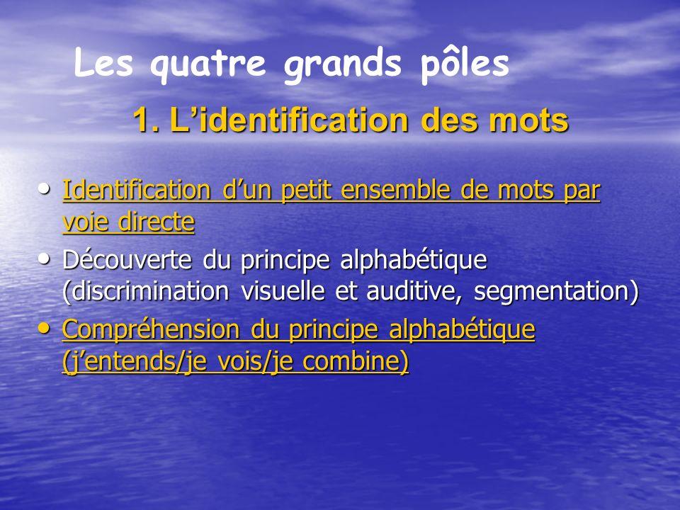 1.Lidentification des mots 1.