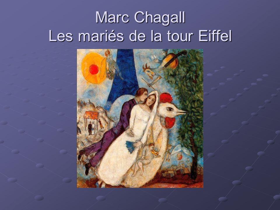 Marc Chagall Les mariés de la tour Eiffel