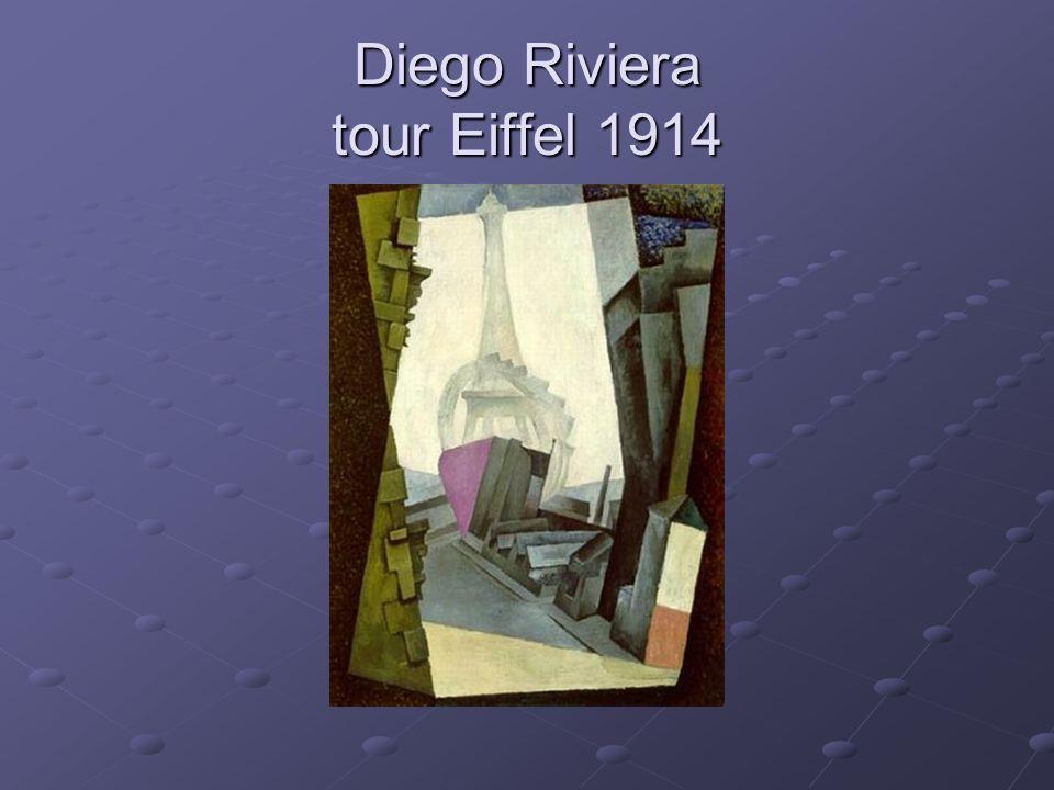 Diego Riviera tour Eiffel 1914
