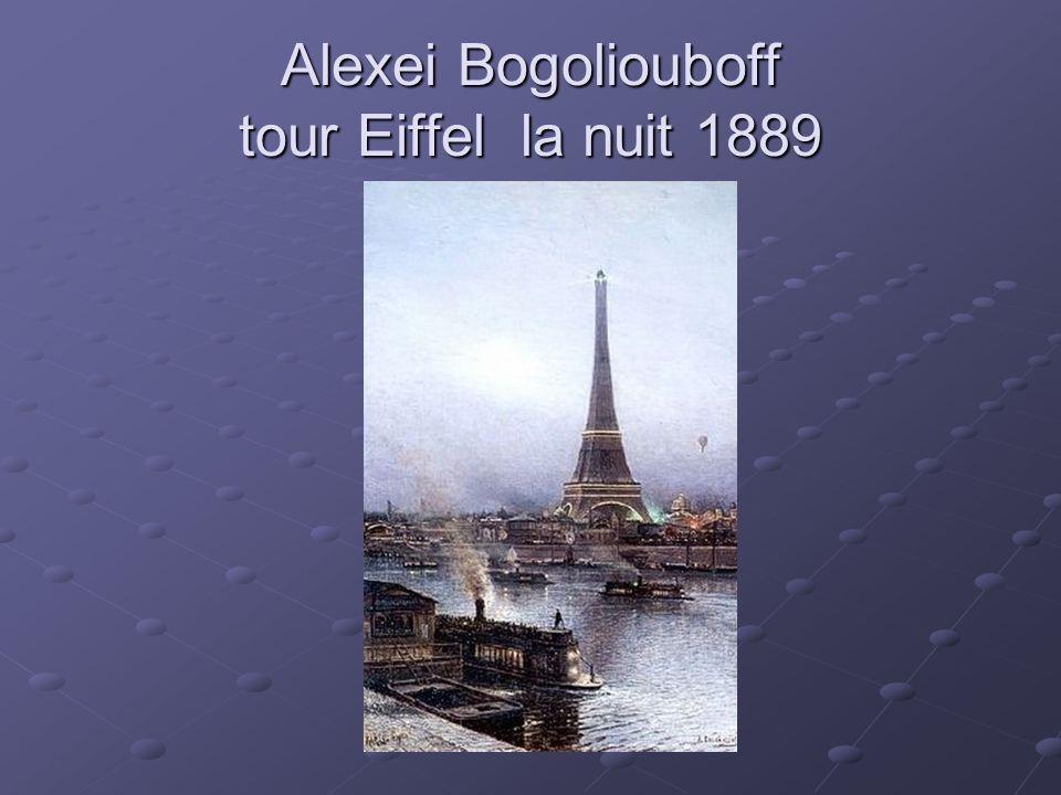 Alexei Bogoliouboff tour Eiffel la nuit 1889