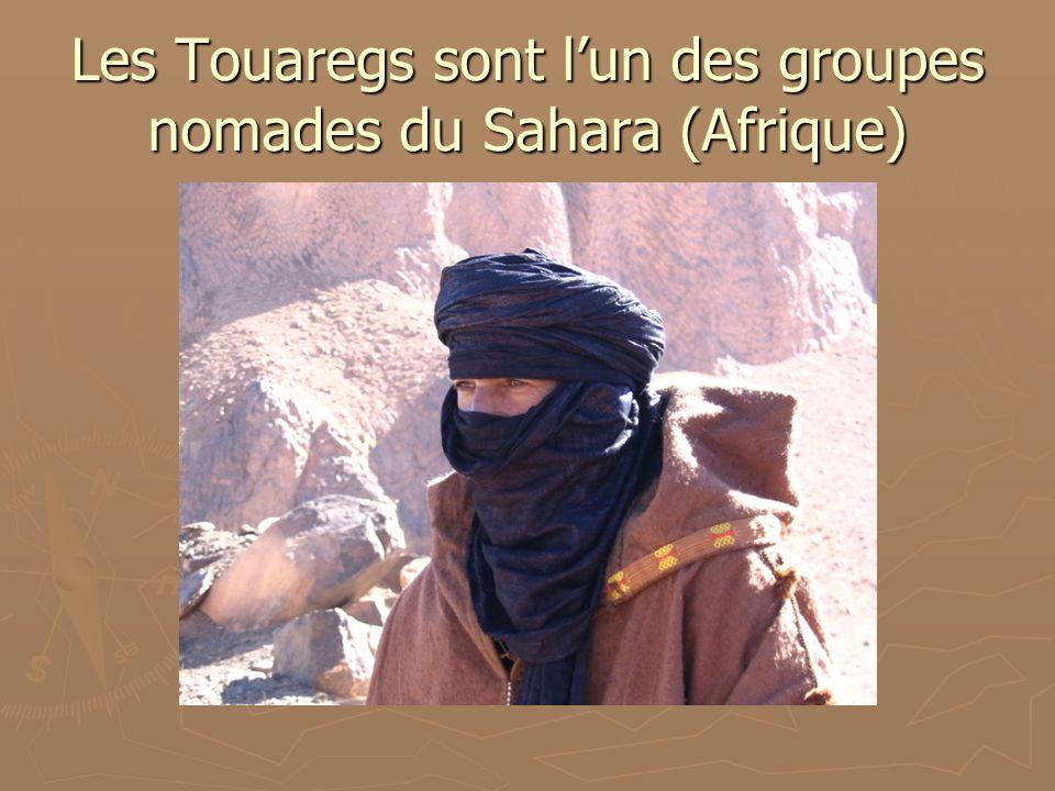 Les Touaregs sont lun des groupes nomades du Sahara (Afrique)