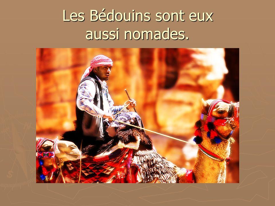 Les Bédouins sont eux aussi nomades.