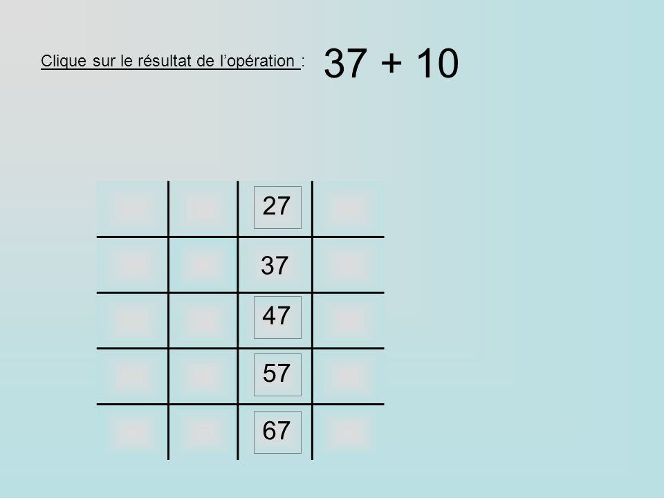 46 ligne des 5 colonne des 7 5756 47 ligne des 4 colonne des 6