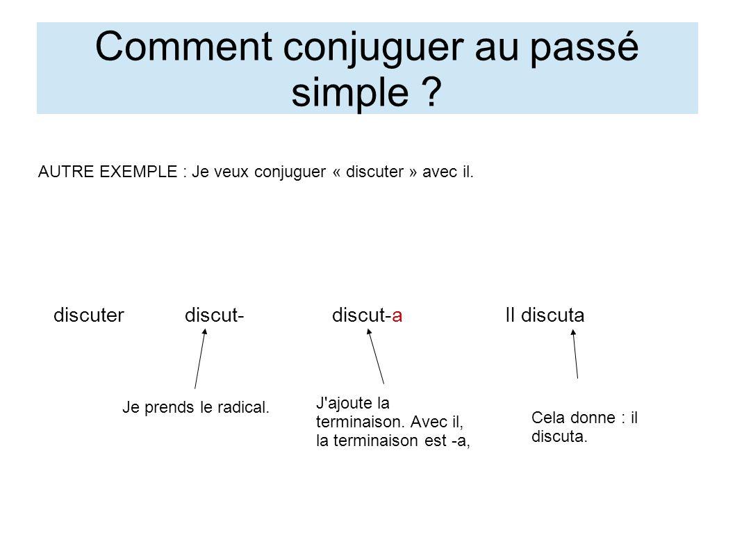 Quelles sont les terminaisons pour les verbes en -er et aller au passé simple .