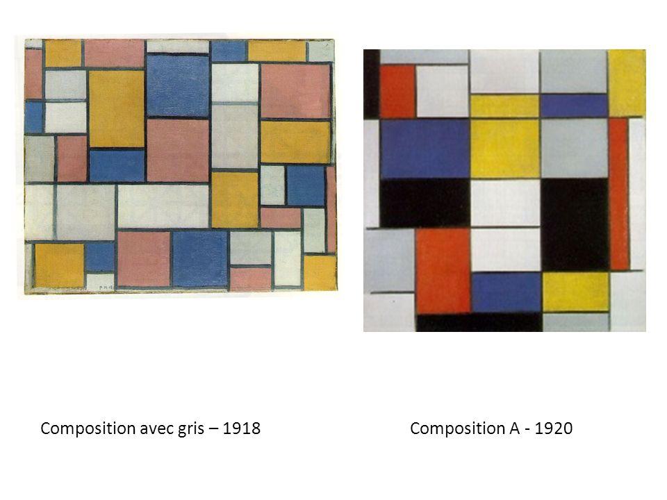 Composition avec gris – 1918 Composition A - 1920