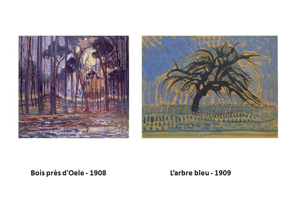 Bois près d'Oele - 1908 Larbre bleu - 1909