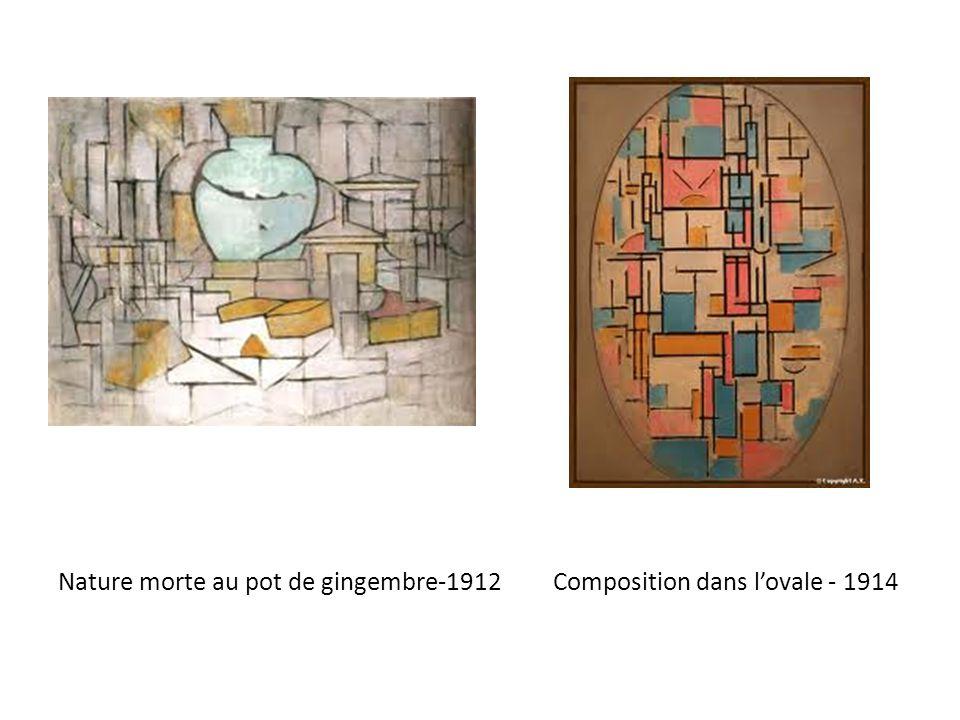 Composition 1 : arbres -1913 Composition 6 : façade bleue - 1914