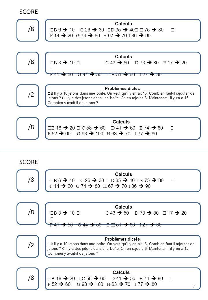 Compter de 2 en 2, de 5 en 5 8 Problèmes dictés Double et moitié Réponds par une phrase Compter de 5 en 5, de 10 en 10 Compter de 2 en 2, de 5 en 5 Problèmes dictés Double et moitié Réponds par une phrase Compter de 5 en 5, de 10 en 10 8 15 24 8 8 15 24 8 23 96 82 8 23 96 82 8