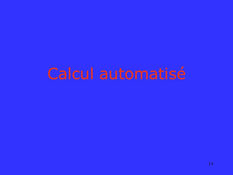 14 Calcul automatisé