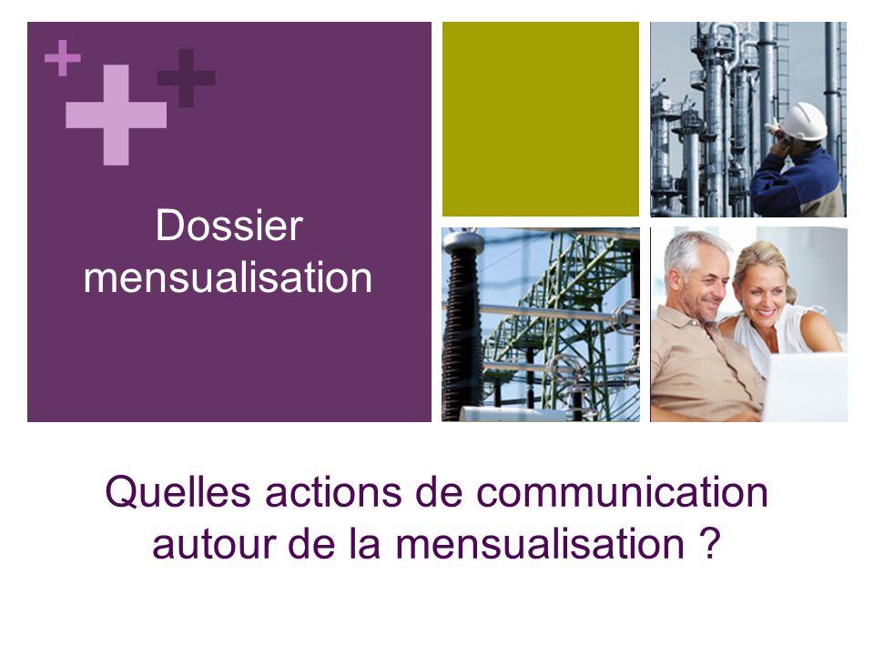 + Dossier mensualisation Quelles actions de communication autour de la mensualisation ? + +