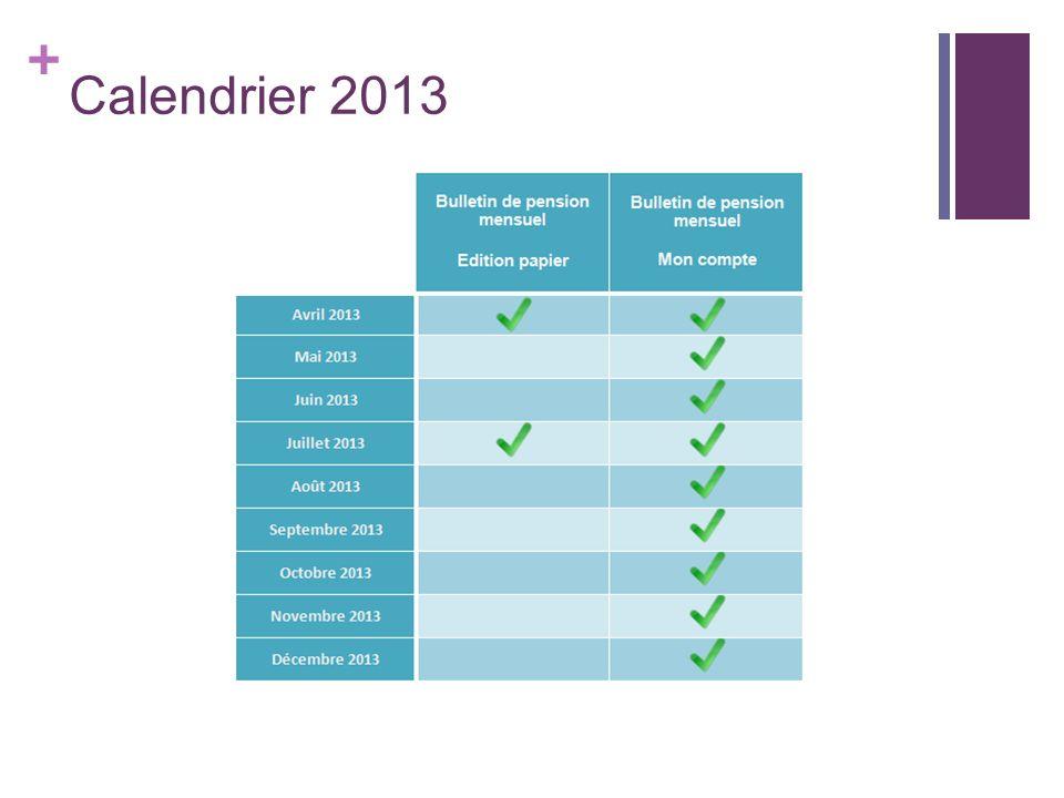+ Calendrier 2013