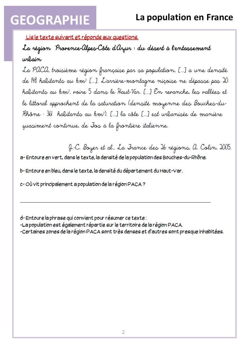 GEOGRAPHIE La population en France 3 II) Lévolution de la population a.