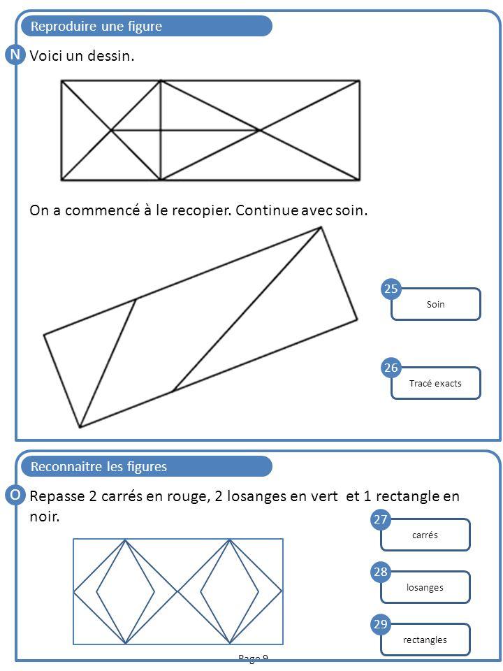 Page 10 Reproduire par symétrie P Trace le symétrique de la figure ci-dessous par rapport à la droite d : symétrie 30 Tracer un carré Q Lisa a commencé à tracer un carré de 3 cm de côté.