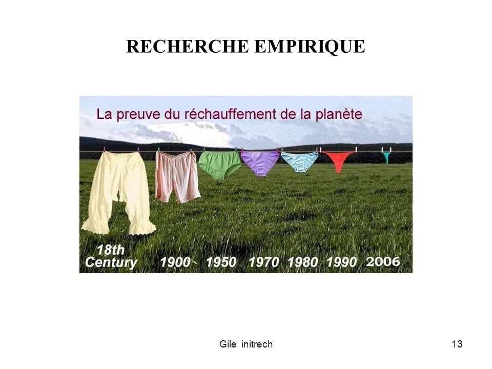 Gile initrech13 RECHERCHE EMPIRIQUE