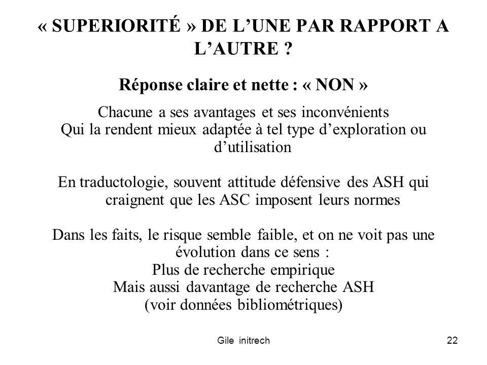 Gile initrech22 « SUPERIORITÉ » DE LUNE PAR RAPPORT A LAUTRE ? Réponse claire et nette : « NON » Chacune a ses avantages et ses inconvénients Qui la r