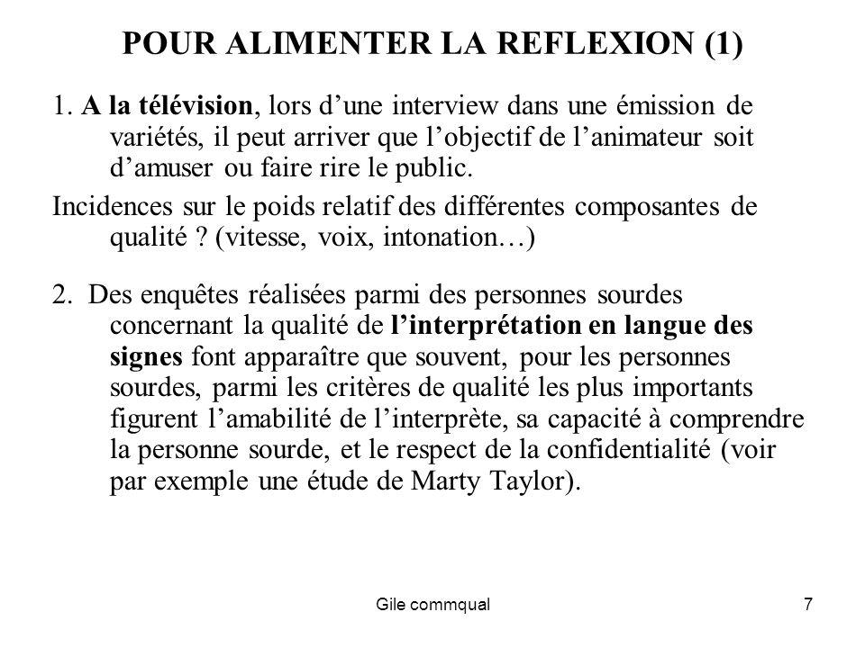 Gile commqual7 POUR ALIMENTER LA REFLEXION (1) 1.