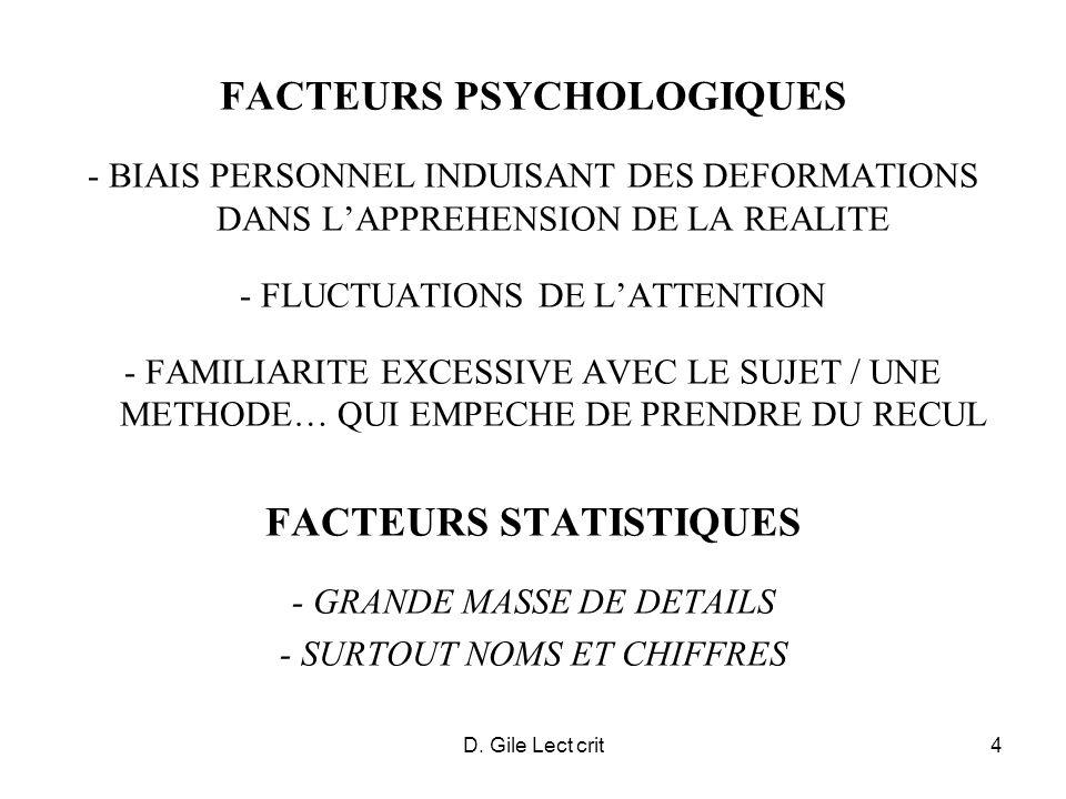 D. Gile Lect crit4 FACTEURS PSYCHOLOGIQUES - BIAIS PERSONNEL INDUISANT DES DEFORMATIONS DANS LAPPREHENSION DE LA REALITE - FLUCTUATIONS DE LATTENTION