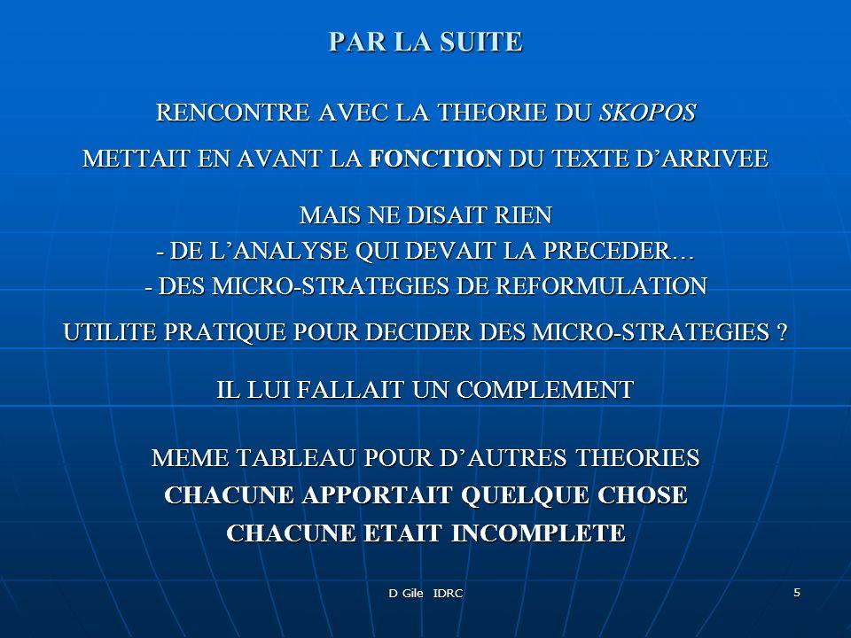 D Gile IDRC 6 THEORIE GENERALE DE LA TRADUCTION .