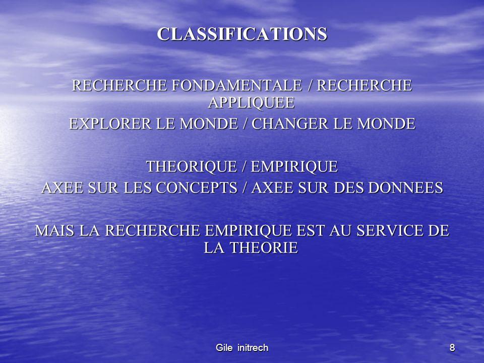 Gile initrech9 CYCLE SCIENTIFIQUE CANONIQUE OBSERVATIONS INITIALES GENERALISATION PROVISOIRE (THEORIE) VERIFICATION (EMPIRIQUE) DE LA THEORIE MODIFICATION OU REMPLACEMENT DE LA THEORIE VERIFICATION DE LA NOUVELLE THEORIE ….