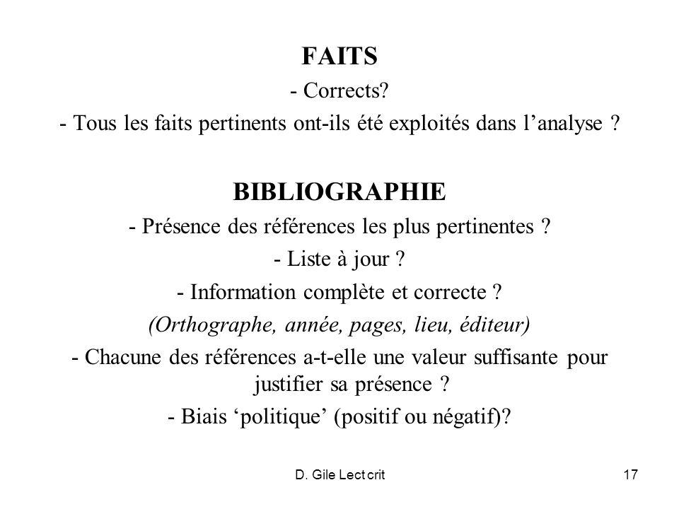 D. Gile Lect crit17 FAITS - Corrects.