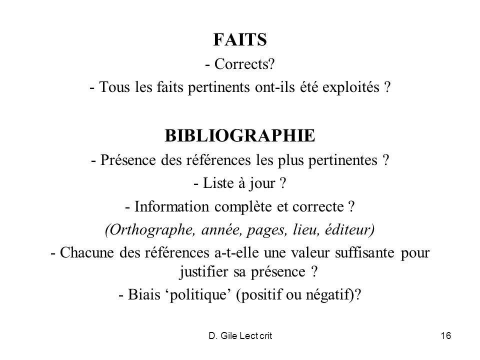D.Gile Lect crit17 INFERENCES - Logique .