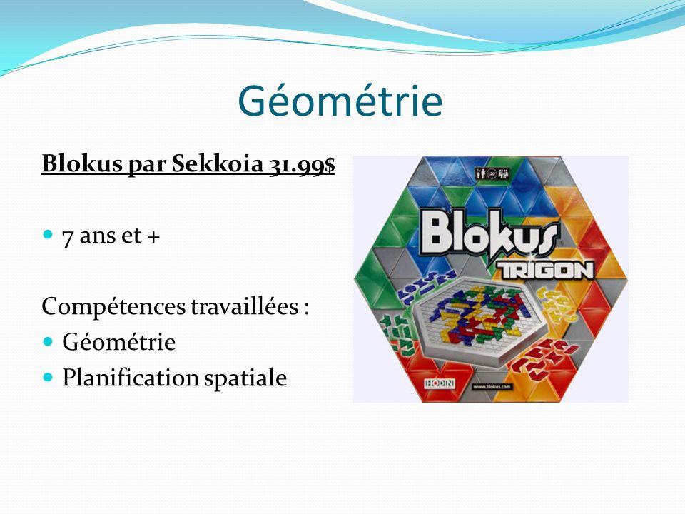 Géométrie Blokus par Sekkoia 31.99$ 7 ans et + Compétences travaillées : Géométrie Planification spatiale
