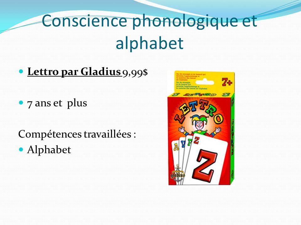 Conscience phonologique et alphabet Lettro par Gladius 9,99$ 7 ans et plus Compétences travaillées : Alphabet