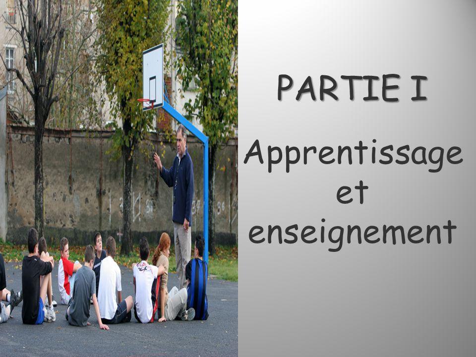 PARTIE I PARTIE I Apprentissage et enseignement