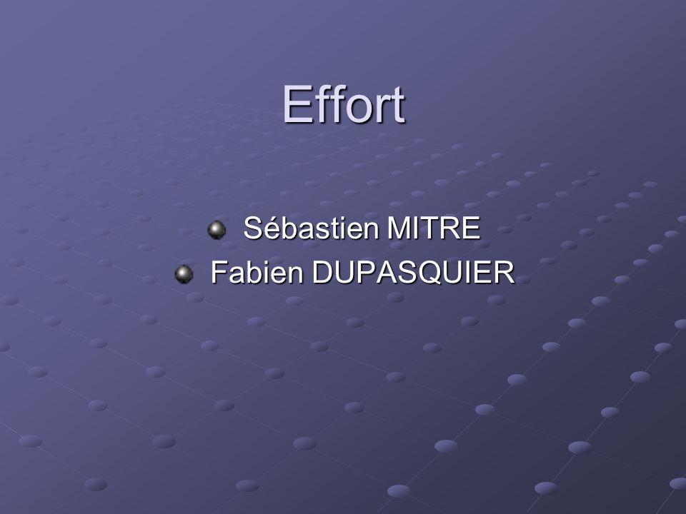 Effort Sébastien MITRE Sébastien MITRE Fabien DUPASQUIER Fabien DUPASQUIER