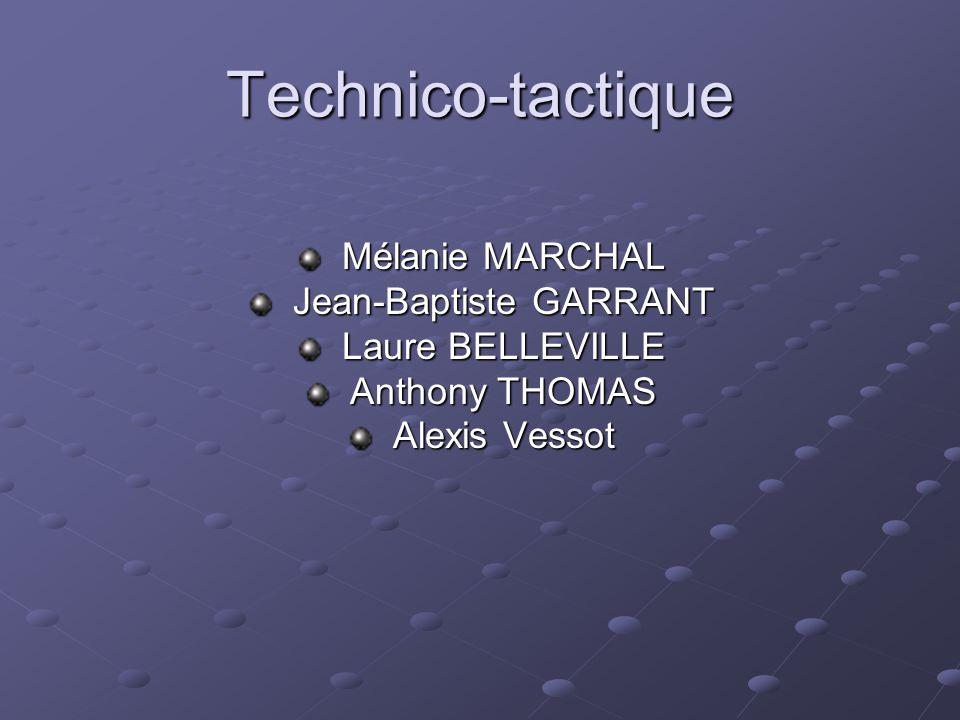 Technico-tactique Mélanie MARCHAL Mélanie MARCHAL Jean-Baptiste GARRANT Jean-Baptiste GARRANT Laure BELLEVILLE Laure BELLEVILLE Anthony THOMAS Anthony
