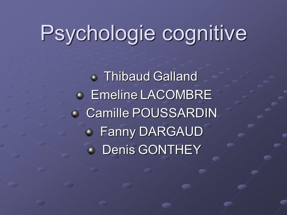 Psychologie cognitive Thibaud Galland Thibaud Galland Emeline LACOMBRE Emeline LACOMBRE Camille POUSSARDIN Camille POUSSARDIN Fanny DARGAUD Fanny DARG