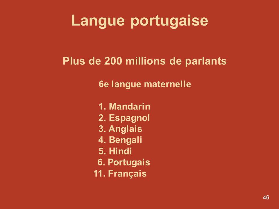 45 Ce nest que vers 1500 que lon a commencé à distinguer le galicien du portugais.